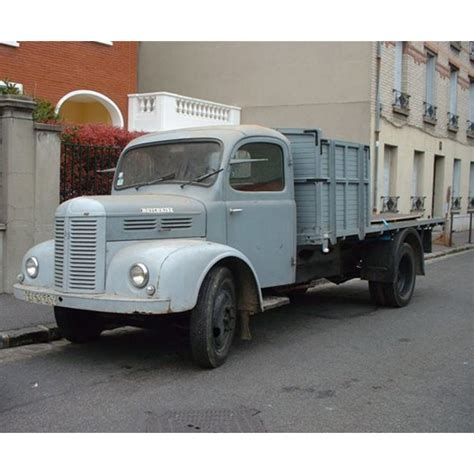 Location auto retro collection   hotchkiss PL25 camion plateau de 1950