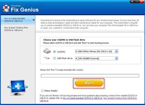 windows 7 password reset genius how to burn a windows 7 recovery disk to repair windows
