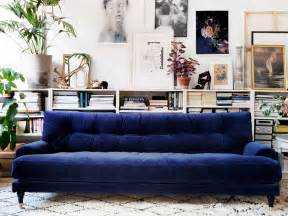 blue velvet tufted sofa velvet sofas centsational