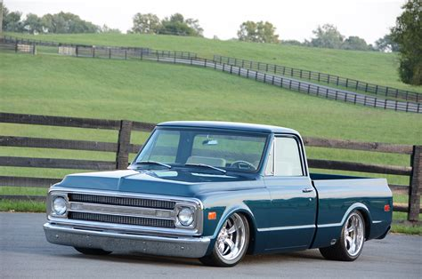 And C10 a 1970 chevy c10 that went from high school ride to