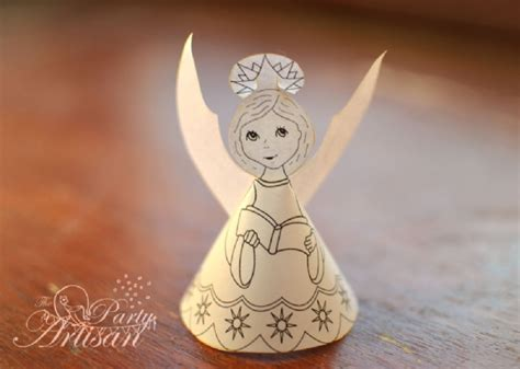 printable paper angel pretty paper angels to make free grandmother wren