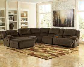 Sectional With Recliner Reclining Fabric Sectionals