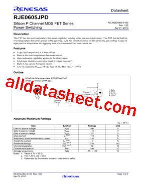 transistor j3 datasheet rje0605jpd 00 j3 datasheet pdf renesas technology corp