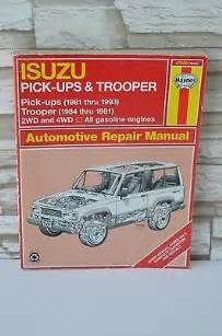 Isuzu Trooper Repair Manual Isuzu Ups Trooper Automotive Repair Manual Haynes