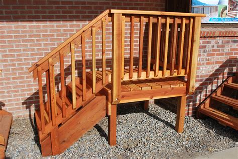 premade banister spec deck pre built deck the redwood store