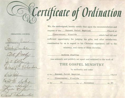 pin printable certificates ordination pictures on pinterest