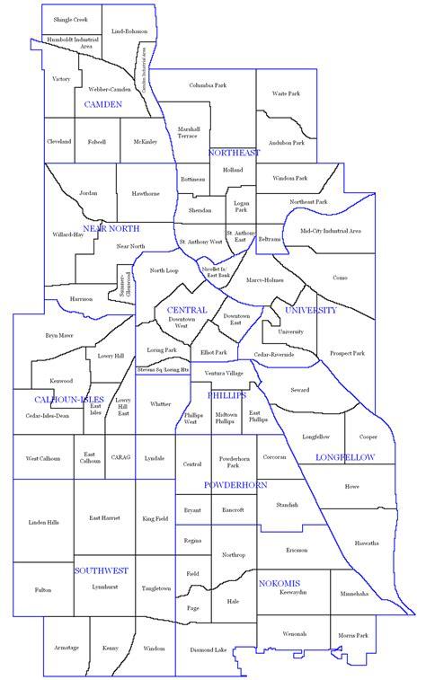 map of minneapolis area neighborhoods of minneapolis