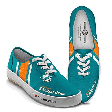 miami dolphins sneakers nfl licensed miami dolphins s canvas sneakers