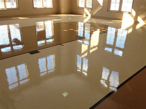 Buffing Waxed Floors by Floor Striping Waxing Top Notch Building Maintenance