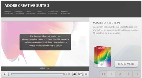 Adobe Creative Suite 3 New York Launch Event by Adobe Cs3 Launch Event Webcast Live From Ny