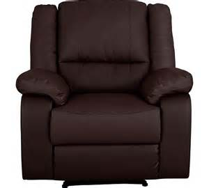buy home bruno leather effect manual recliner chair