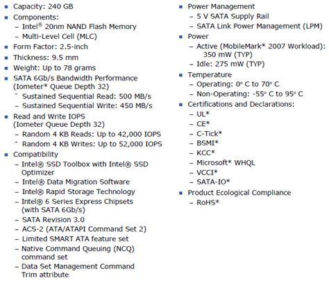 Intel 335 Series 240gb intel 335 series 240gb sata iii ssd review