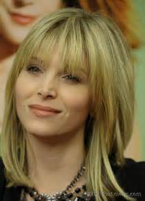 hairstyles for 50 bangs medium hairstyles with bangs for over 50
