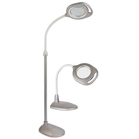 ottlite led desk l ottlite 2 in 1 led magnifier floor and light