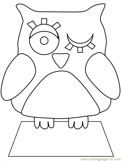 template of owl free owl coloring pages animal coloring pages