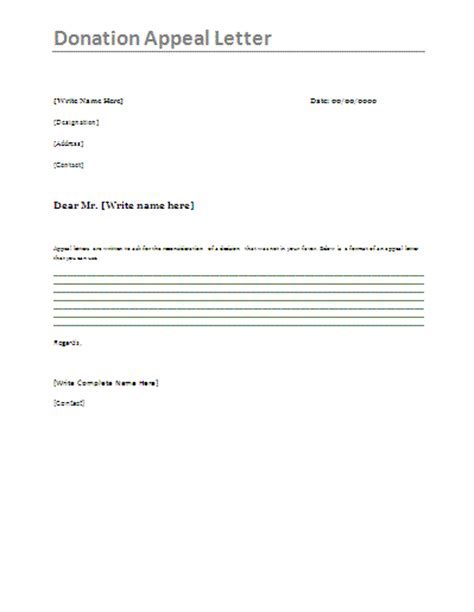 Format Of Appeal Letter For Donation Donation Appeal Letter Appeal For Donation Letters Tend
