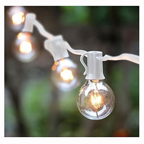 Indoor Outdoor Lights String Lighting G40 String Lights With 25 Globe Bulbs Ul Listed For Indoor Outdoor Commercial Decor Wedding