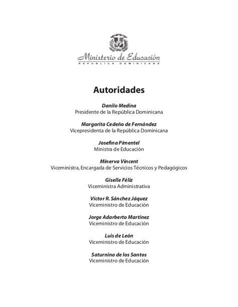 Diseño Curricular Dominicano 2014 Curriculo Inicial Ministerio De Educacion Republica Dominicana 2014