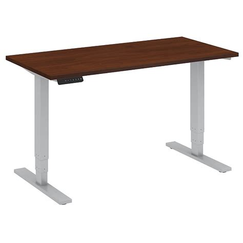 standing desk adjustable height bush business furniture height adjustable standing desk