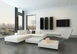 White corner sofa for modern minimalist living room 3d house free