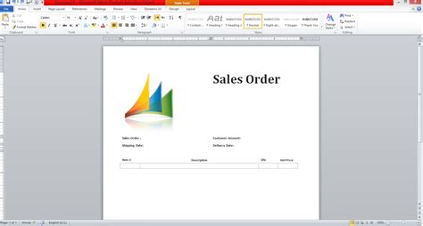 microsoft word document templates export sales order data to ms word template with dynamics