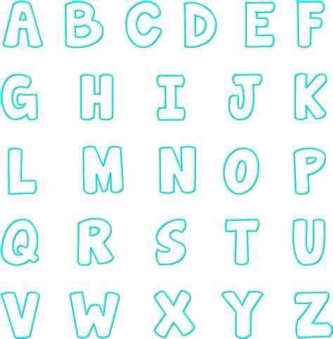 free alphabet template applique templates alphabet free images