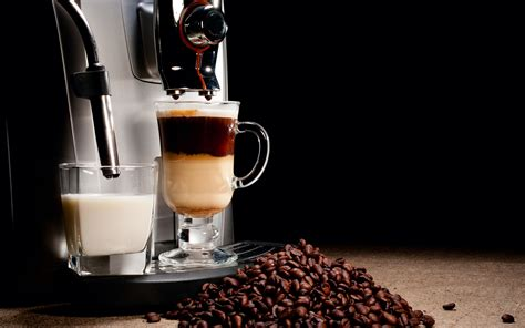 coffee milk wallpaper coffee machine cappuccino espresso coffee beans cup brown