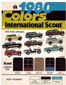 scout colors 80 cvi stuff and trailstar paint colors binderplanet