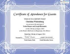 sle certificate of attendance template i certificati di nozze stabili for condividilo