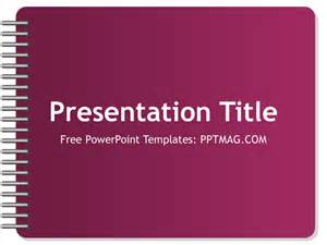 Notebook Powerpoint Template by Free Notebook Powerpoint Template Pptmag