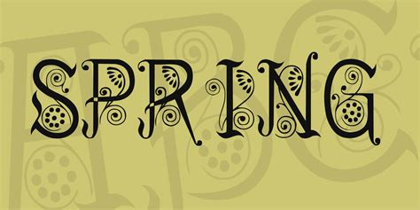 spring font 183 1001 fonts