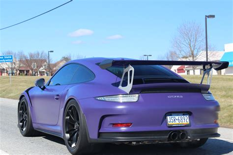 dark purple porsche 100 porsche gt3 rs matte black 2016 porsche 911 gt3