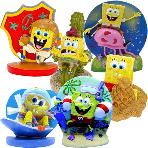 spongebob ornaments spongebob figures aquarium ornament set
