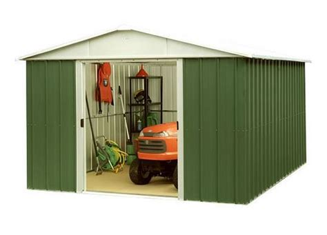 yardmaster geyz apex metal garden shed  shed