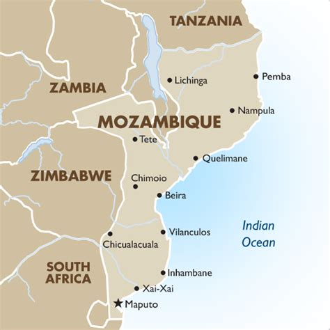 africa map mozambique mozambique vacation safaris travel packages 2017 18