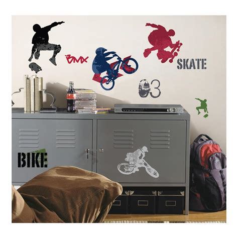 peel and stick wall decals extreme sports peel and stick decal