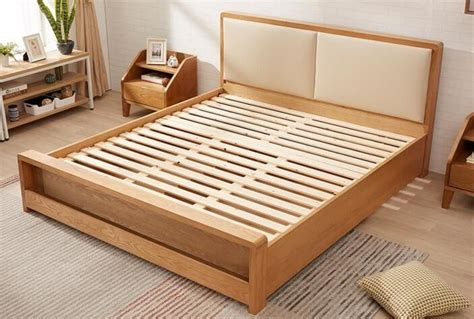 pine queen size solid wood bed frame  drawers chunky