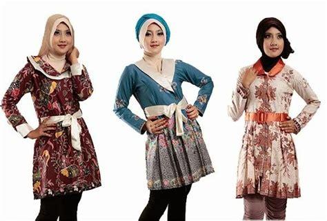 Dress Aida Lengan Panjang Kerudung model baju batik wanita untuk kerja ide model busana