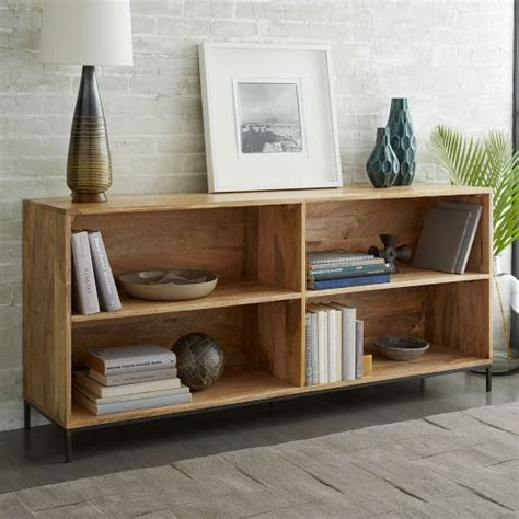 bookcases west elm and rustic on