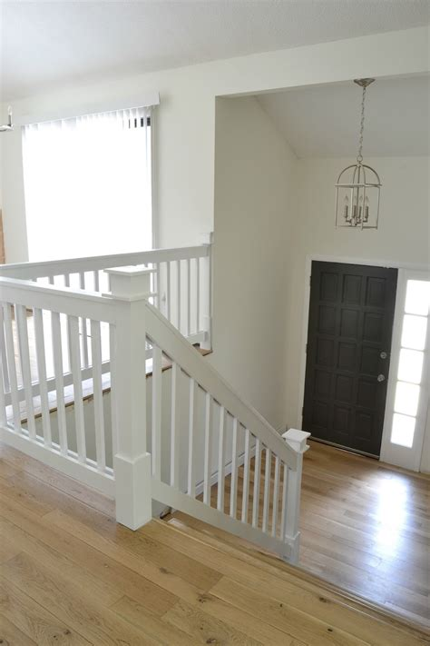 white banister rail our 1970 s house makeover part 7 the painted door and