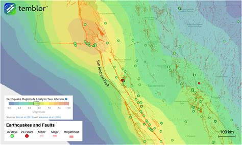 earthquake in california the san andreas sister faults in northern california
