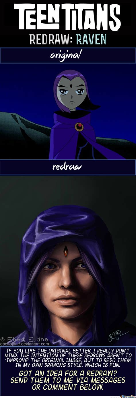 Raven Meme - redraw raven from teen titans by ebejeden meme center