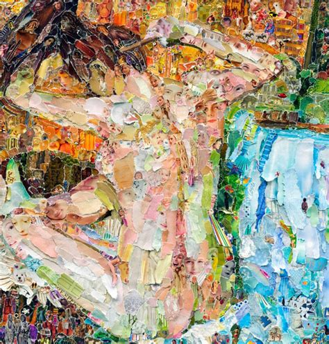vik muniz famous artworks recreated  torn magazines