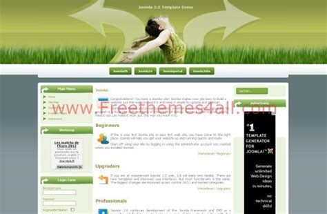 download themes joomla green health joomla theme template download