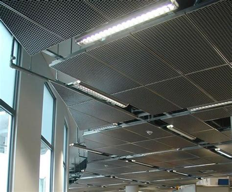 lindners expanded metal ceilings are available with a wide range of surface finishes creating a