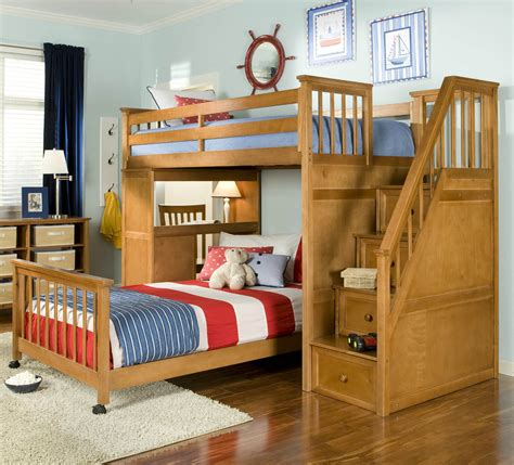 Bed And Desk For Small Room Bathroom Classic Look Room Walnut Wood Loft Bed Design With Drawers And