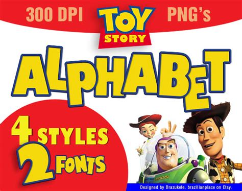 story font template sale story alphabet clip font typography pixar