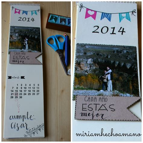 Calendario Sello Mano Miriam Hecho A Mano Calendario 2014 Hecho A Mano