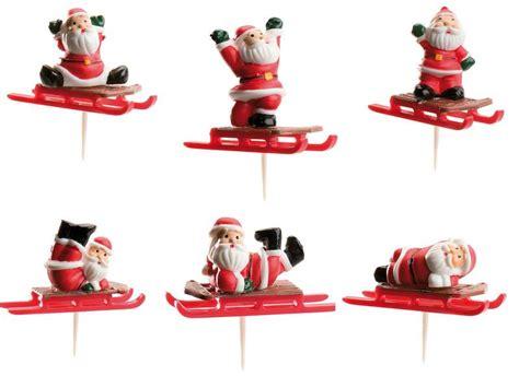 slee glass feesthapjes stofkers met kerstman op rode slee
