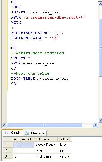 format file for csv bulk insert sql server bulk insert csv into a sql server table sql